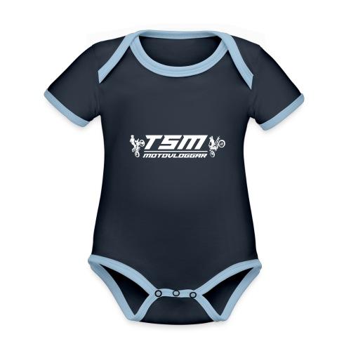 TSMSticker2017 transparant png - Ekologisk kontrastfärgad kortärmad babybody