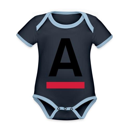 Alliansfritt Sverige A logo 2013 Färg - Ekologisk kontrastfärgad kortärmad babybody