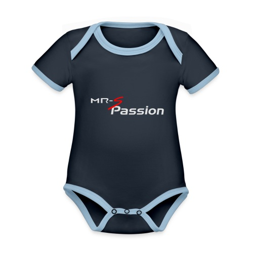mrs passion - Body Bébé bio contrasté manches courtes