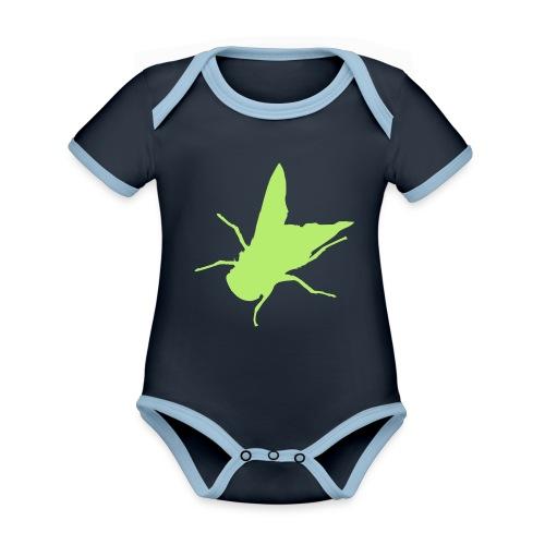 fliege - Baby Bio-Kurzarm-Kontrastbody