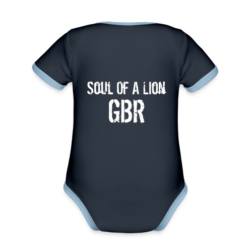 gbuwh3 - Organic Baby Contrasting Bodysuit