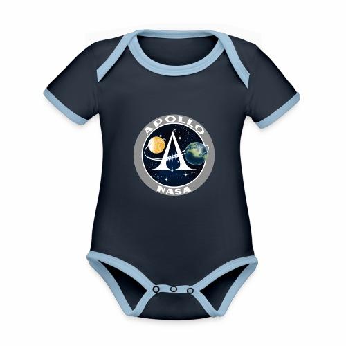 Mission spatiale Apollo - Body Bébé bio contrasté manches courtes