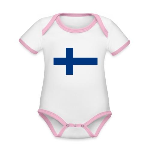Infidel - vääräuskoinen - Vauvan kontrastivärinen, lyhythihainen luomu-body