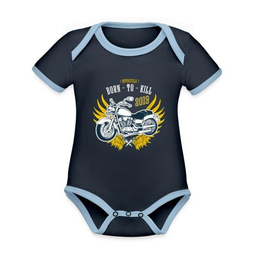 Motorcycle4 - Body contraste para bebé de tejido orgánico