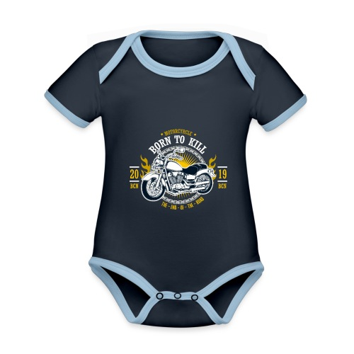 Motorcycle1 - Body contraste para bebé de tejido orgánico