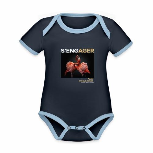 1 Achat = 1 Don à l'association Rainfer - Body Bébé bio contrasté manches courtes