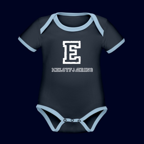 E - Meløyfjæring - Økologisk kortermet kontrast-babybody