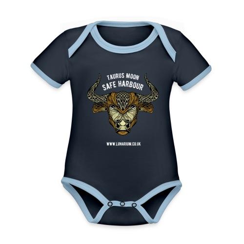Taurus Moon Dark - Organic Baby Contrasting Bodysuit