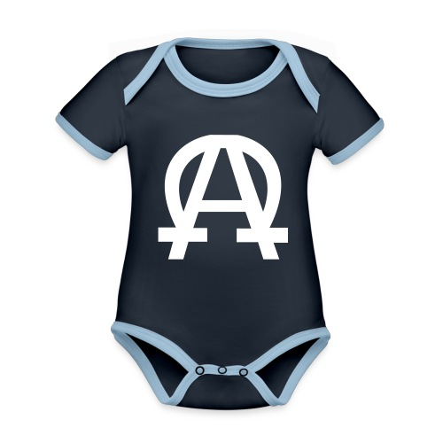 alpha-oméga - Body Bébé bio contrasté manches courtes