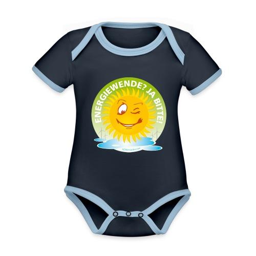 Energiewende? Ja bitte! - Baby Bio-Kurzarm-Kontrastbody
