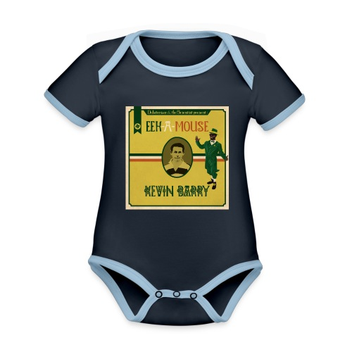 Eek a Mouse Kevin Barry - Organic Baby Contrasting Bodysuit