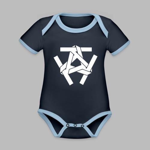 KKK-Logo-vektor - Baby Bio-Kurzarm-Kontrastbody