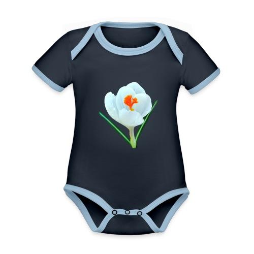 TIAN GREEN - Krokuss 2020 - Baby Bio-Kurzarm-Kontrastbody