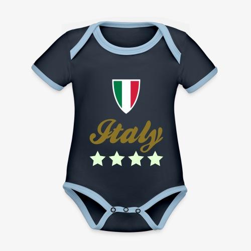 Gruppo di stelle Italia - Body da neonato a manica corta, ecologico e in contrasto cromatico