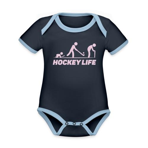 Hockey Life - Body Bébé bio contrasté manches courtes