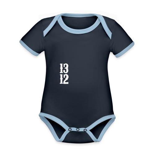 1312 - Baby Bio-Kurzarm-Kontrastbody