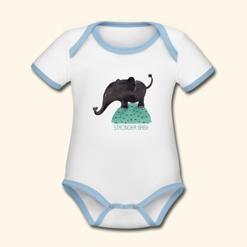 STRONGER BABY - Body contraste para bebé de tejido orgánico