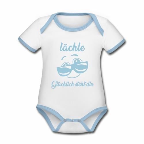Lachen - Baby Bio-Kurzarm-Kontrastbody