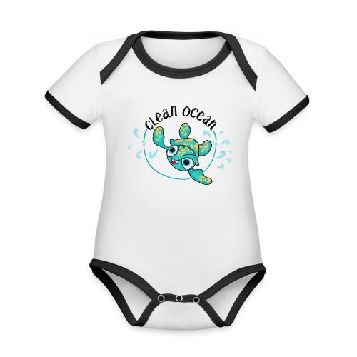 Clean Ocean - Organic Baby Contrasting Bodysuit