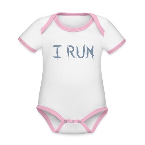 I Run - Baby Bio-Kurzarm-Kontrastbody