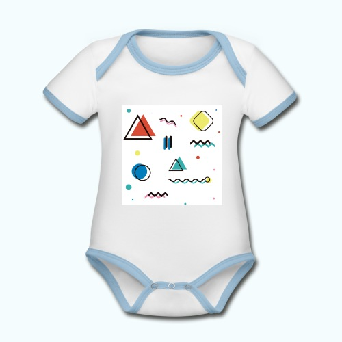 Abstract geometry - Organic Baby Contrasting Bodysuit