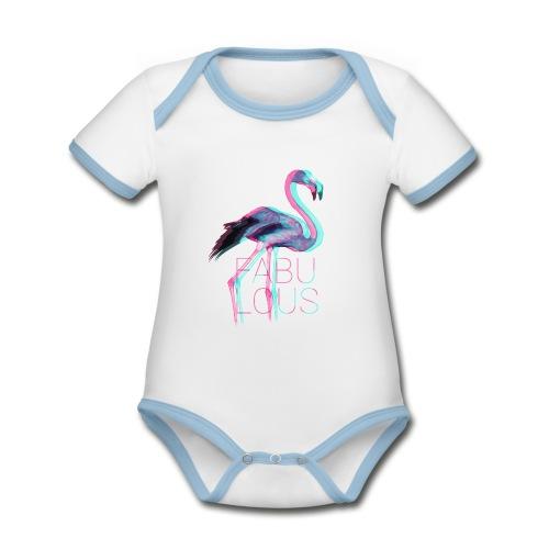 Fabulous - Baby Bio-Kurzarm-Kontrastbody