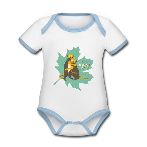 Erdmännchen Herbstfreunde Umarmung - Let's hygge - Baby Bio-Kurzarm-Kontrastbody
