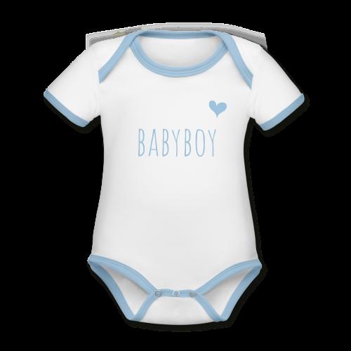 babyboy - Baby Bio-Kurzarm-Kontrastbody