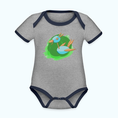 WOOD FREE real drawing - Organic Baby Contrasting Bodysuit