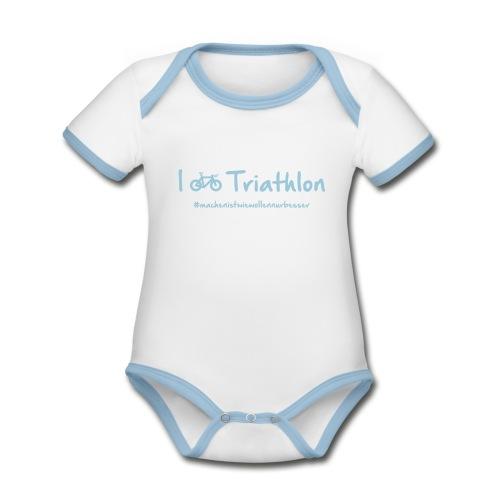 I love Triathlon - Baby Bio-Kurzarm-Kontrastbody