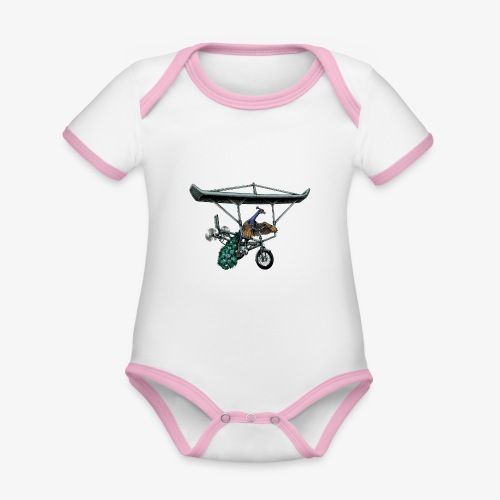 Flight of the Peacock - Organic Baby Contrasting Bodysuit