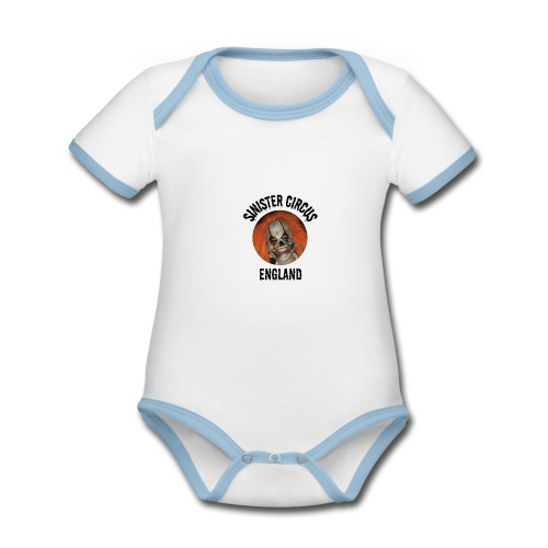 Sinister circus England - Organic Baby Contrasting Bodysuit