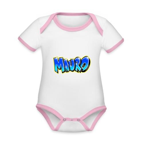 MAURO GRAFFITI NAME - Body Bébé bio contrasté manches courtes