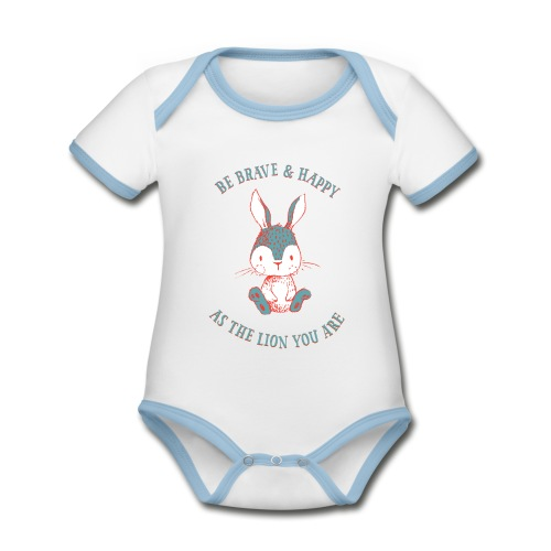 Brave rabbit - Organic Baby Contrasting Bodysuit