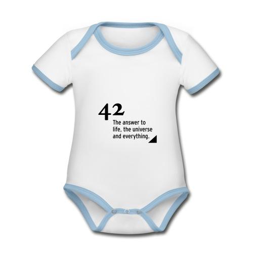 42 - the answer to life, the universe & everything - Baby Bio-Kurzarm-Kontrastbody
