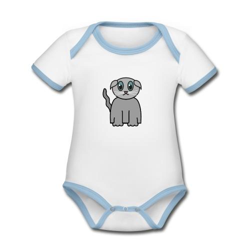 Süßes Kätzchen - Baby Bio-Kurzarm-Kontrastbody