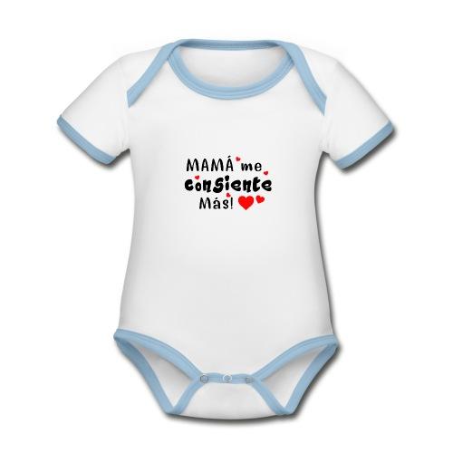 mama me consiente - Body contraste para bebé de tejido orgánico