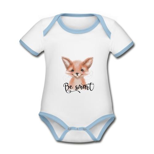 Fox Fuchs be smart - Baby Bio-Kurzarm-Kontrastbody