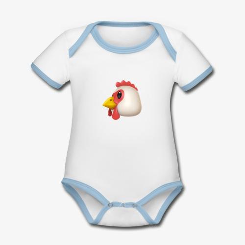 PUBG Chicken Dinner - Baby Bio-Kurzarm-Kontrastbody