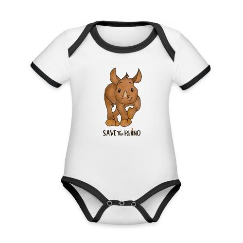 Save the Rhino - Organic Baby Contrasting Bodysuit