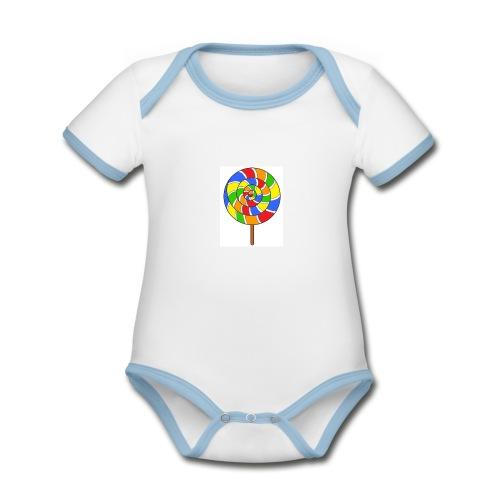 sucette couleur spreadshirt - Body Bébé bio contrasté manches courtes