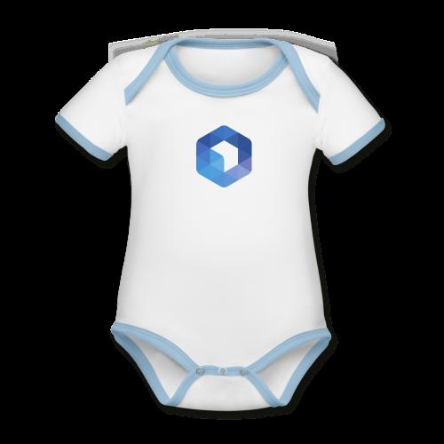 L'hexagone AFUP - Body Bébé bio contrasté manches courtes