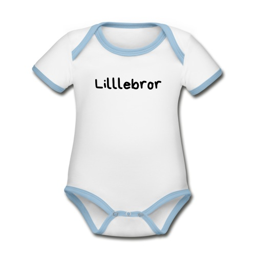 Lillebror - Økologisk kortermet kontrast-babybody