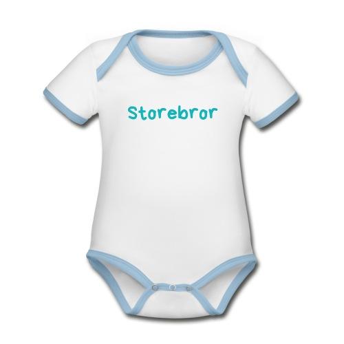 Storebror - Økologisk kortermet kontrast-babybody