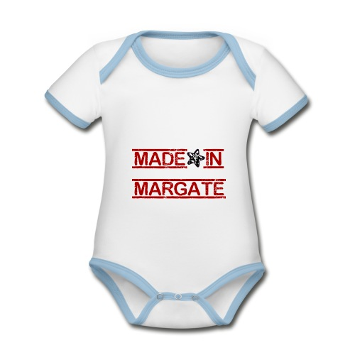 Made in Margate - RED - Organic Baby Contrasting Bodysuit