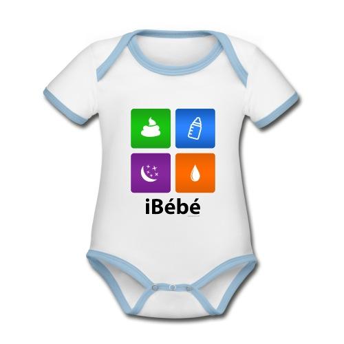 iBébé - Body Bébé bio contrasté manches courtes