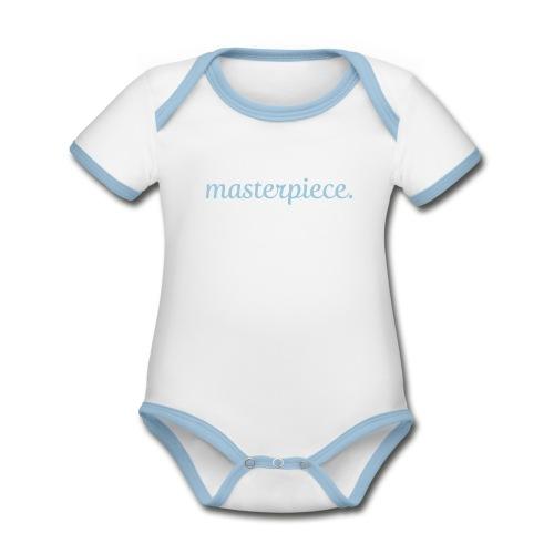 masterpiece designbar - Baby Bio-Kurzarm-Kontrastbody