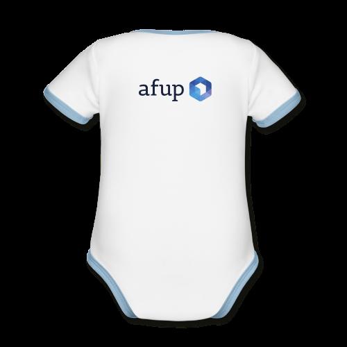 Le logo officiel de l'AFUP - Body Bébé bio contrasté manches courtes