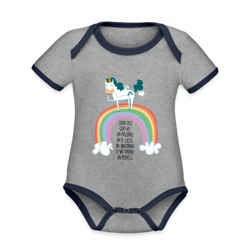 de unicornio - Body contraste para bebé de tejido orgánico