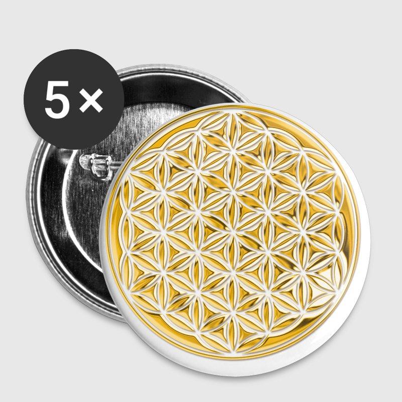 Blume des Lebens GOLD 3D massiv - Chapa mediana 32 mm